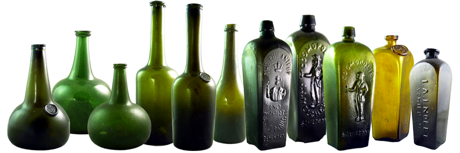 Museum Quality Antique Glass Bottles For Sale or Rent - Overview