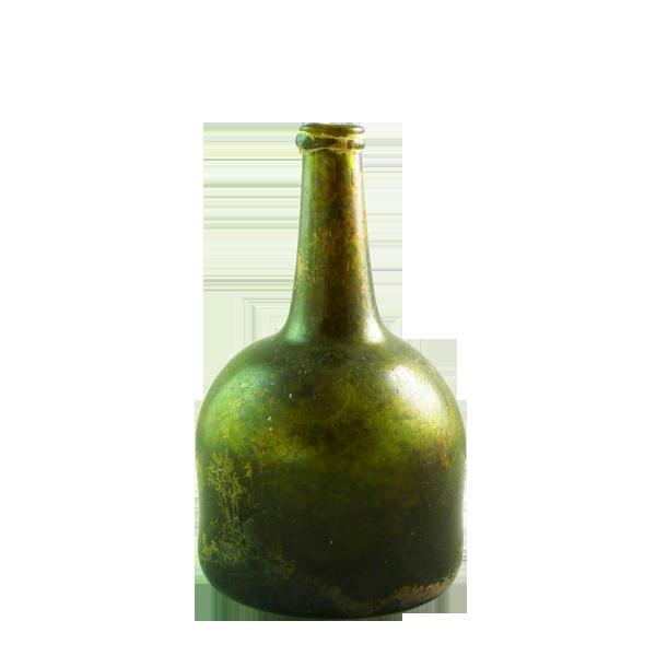Dutch free blown mallet shaped wine