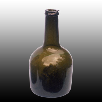 Dutch free blown mallet shaped wine