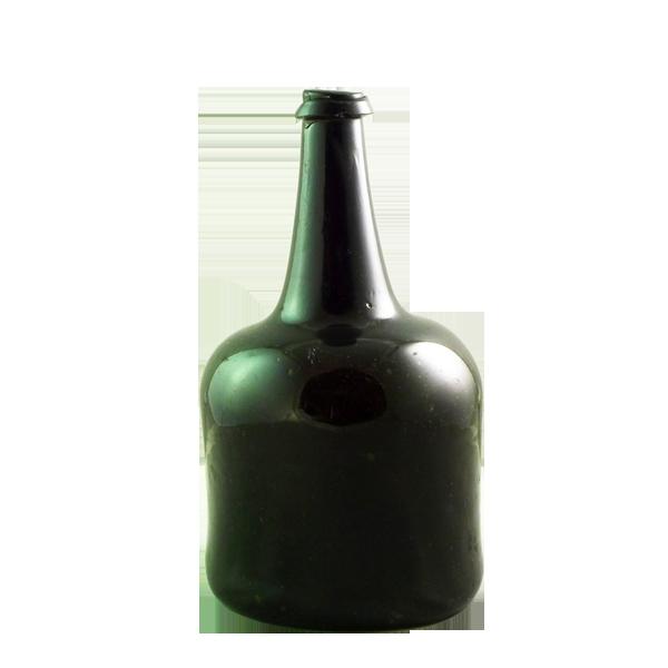 English free blown mallet shaped wine