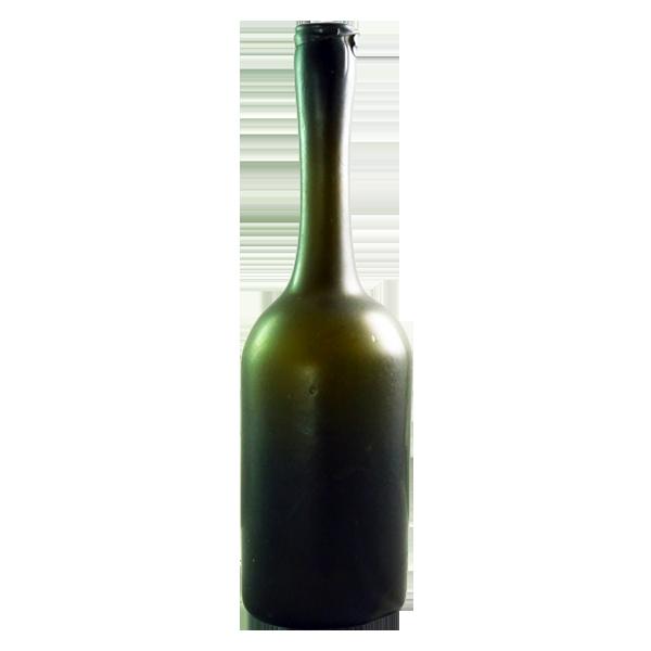 Free blown long neck wine