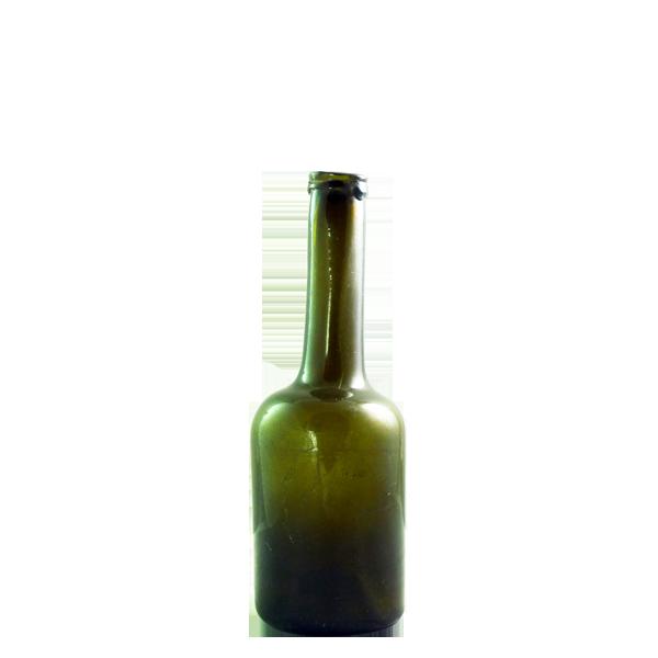 Mini sized free blown long neck wine